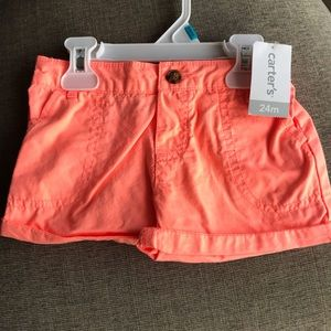 NWT Carter's 24 month set of 2 shorts.